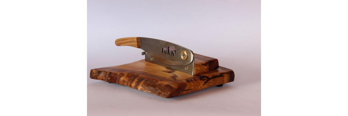 Biltong Slicer made from Wild Olive wood